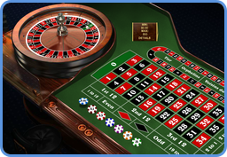 European type roulette table in online casino view