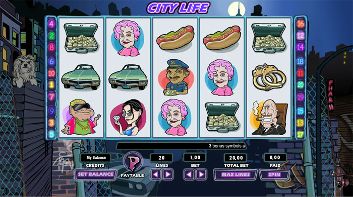 City Life slot game scene