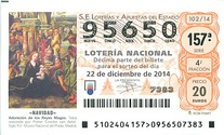 Spanish Christmas lottery ticket 2014