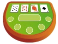 blackjack playing table icon