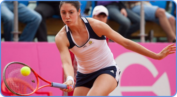 Christina Mchale professionally playing tennis