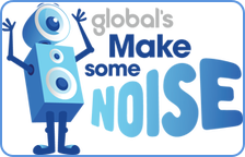 Global's Make Some Noice charity program graphic