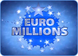 Euromillions lotto game logo blue