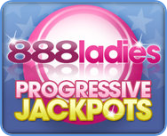 888Ladies Progressive Jackpots Bingo bordered