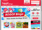 Heart Bingo web-site home-page screenshot