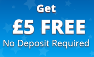 Get 5 Pounds Free. No deposit required promotion graphics