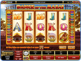 Dance of the Masai 5-reels online slots game