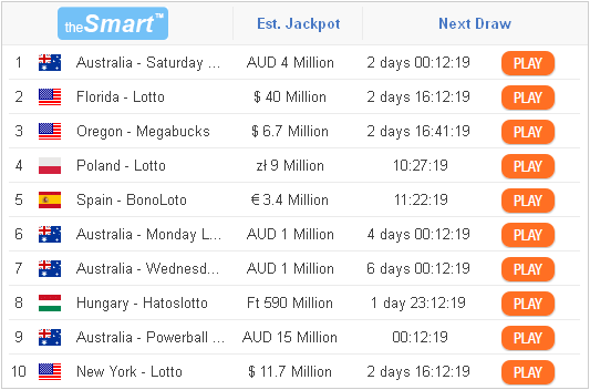 TheSmart - play lottery with the best odds of winning example graphic