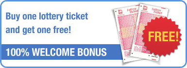 Free California Super Lotto ticket as welcome bonus