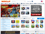 Miniclip Games website picture