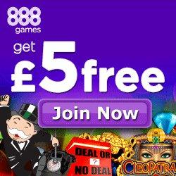 888Games five pounds welcome bonus.